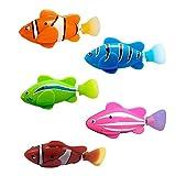 YIDAINLINE Schwimmroboter Fisch, 5 Stück batteriebetriebene elektrische Schwimmen,Aktivierter Clownfisch,Roboterfische im Wasser-magischen elektronischen Spielzeug,Kinder Geschenk Sicherheitsmaterial