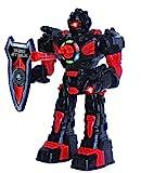 ThinkGizmos Großer Roboter ferngesteuert für Kinder - Hervorragendes Spielzeug Ro-boter - Fernbedienung Spielzeug schießt Raketen, Spaziergänge, Gespräche & Tänze (10 Funktionen) (Schwarz)